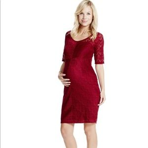 Jessica Simpson red lace maternity dress